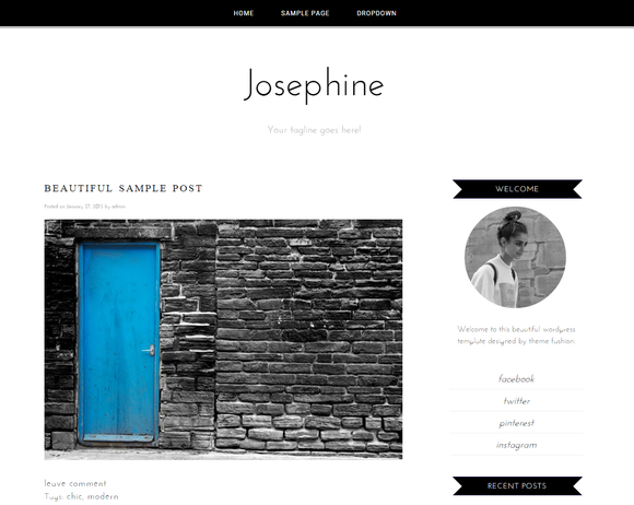 Wordpress Theme Josephine