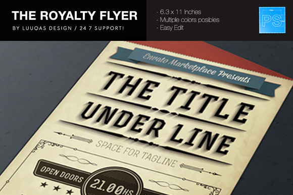 The Royalty Flyer Poster