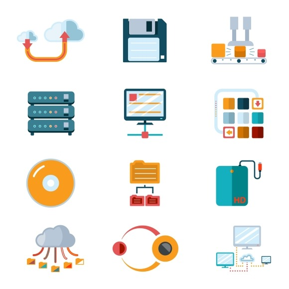 Flat Data Icons