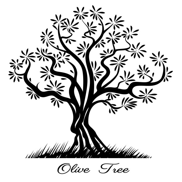 Olive Tree Silhouette