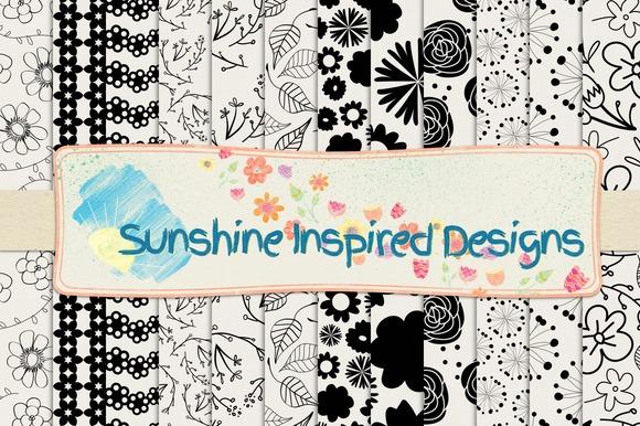 Florals Paper Templates #7