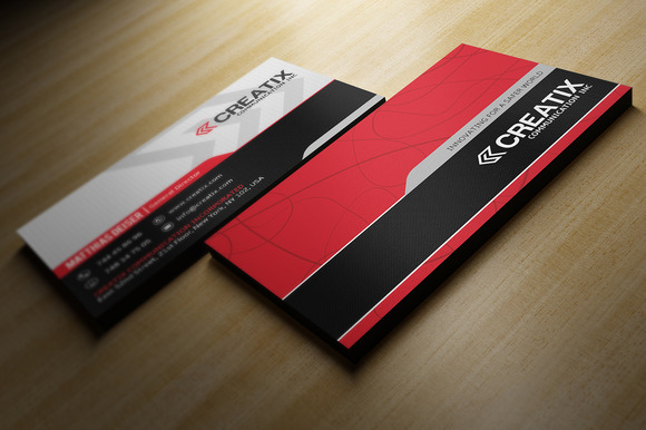 Red And Black Buisness Card