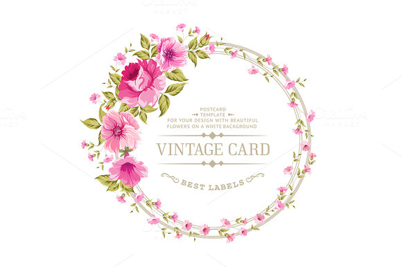 Luxurious Color Peony Label