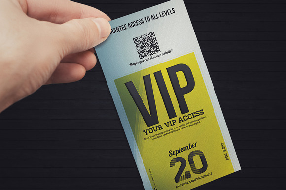 Elegant Event Vip Pass Card
