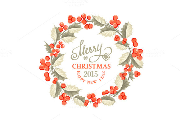 Christmas Mistletoe Wreath