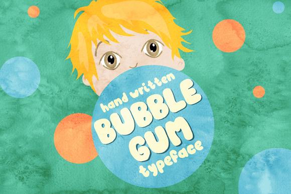 Bubble Gum Hand Written Font
