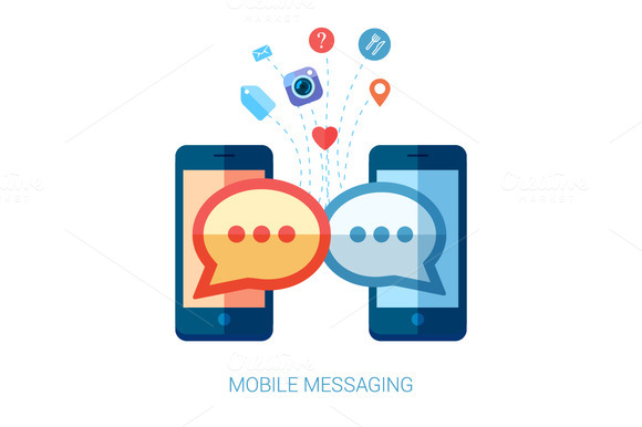 Mobile Messaging Apps Trends Icons