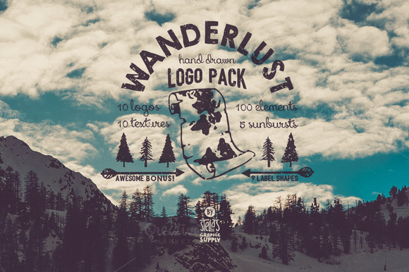 Wanderlust Logo Pack 22% Off
