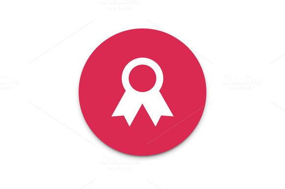 Certificate Seal With Ribbons Icon