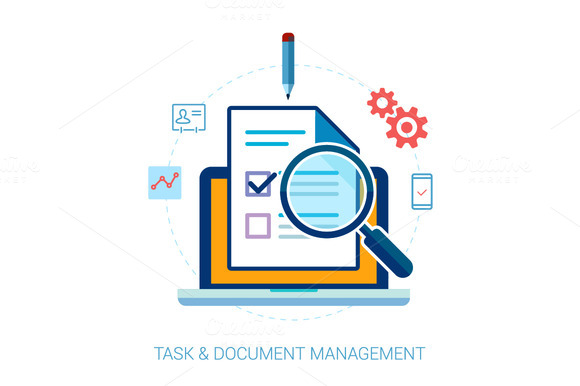 Tasks Contacts Document Search Icon