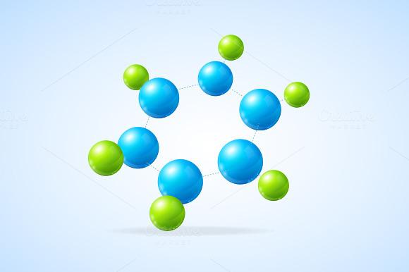 Vector Illustration Molecule