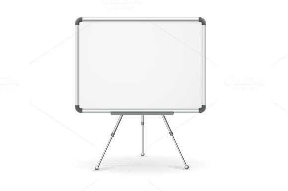 Vector Empty Whiteboard