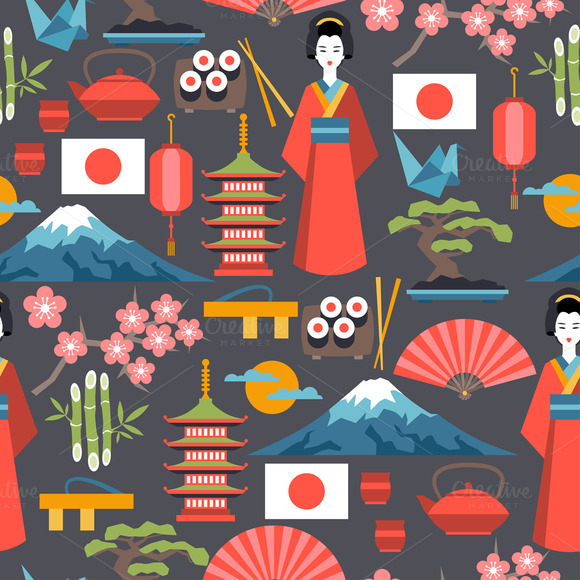 Japan Seamless Patterns