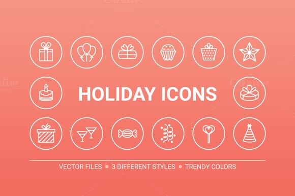 Circle Holiday Icons