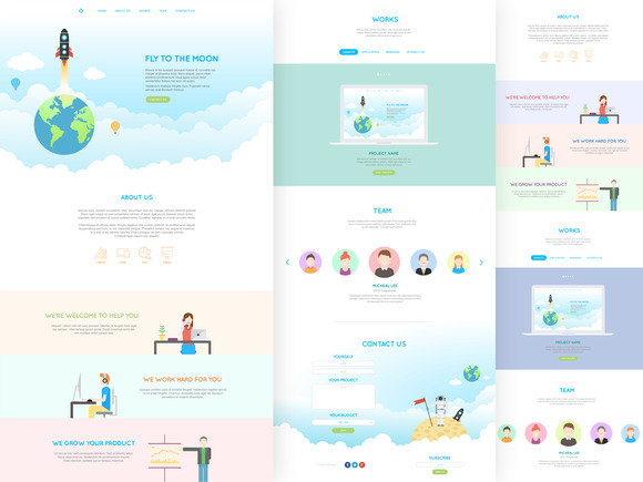 Jai Flat One Page PSD Template