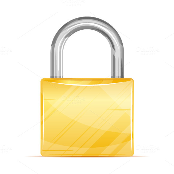 Golden Padlock Icon