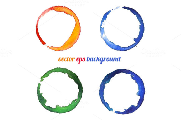 Watercolor Colorful Circles