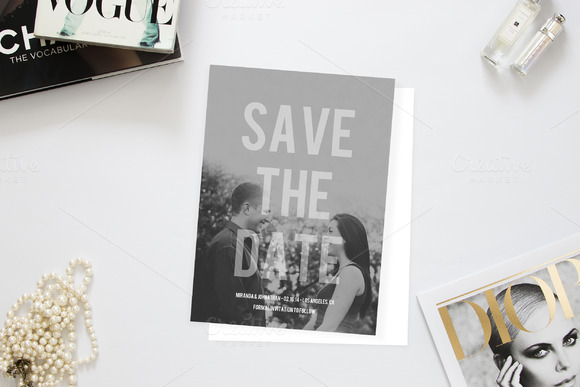 Modern Photo Save The Date