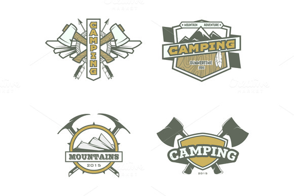Vector Camping Labels