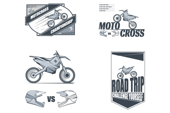 Vector Motocross Labels