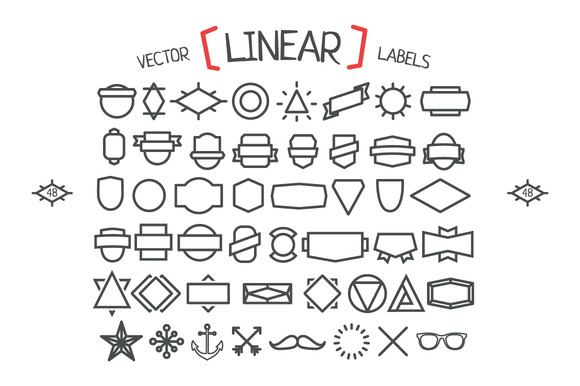 Vector Linear Hipster Labels