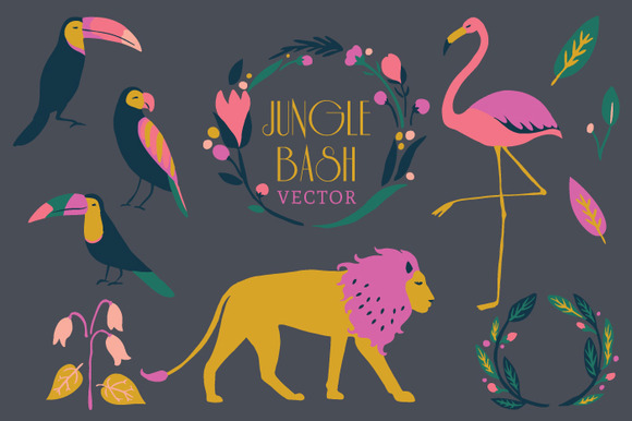Tropical Forest Vector Set