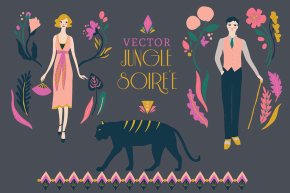Jungle Soiree Vector Set
