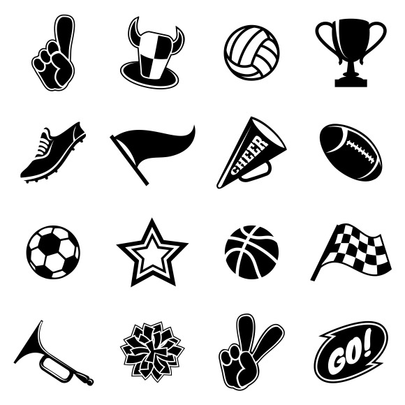 Sports Icons And Fans Equipment