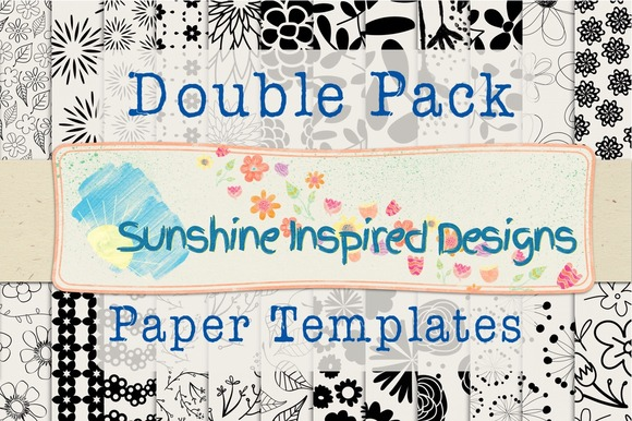 Florals Double Paper Template Pack