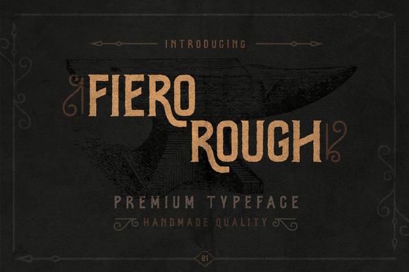 Fiero Rough Hand Drawn Font