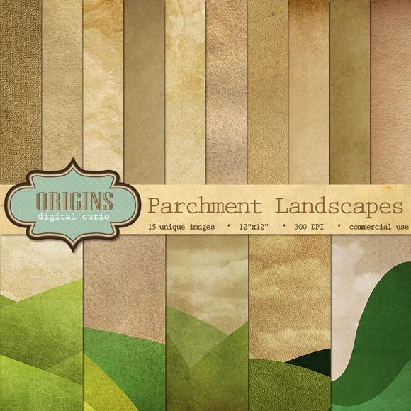 Old Paper Parchment Texture Landscap