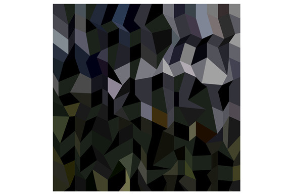 Camouflage Abstract Low Polygon Back