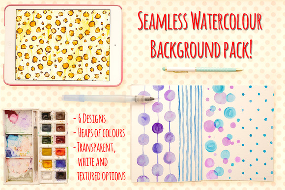 Seamless Watercolour Backgrounds