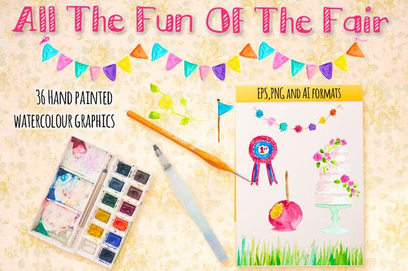 Fun Of The Fair Watercolour Graphics