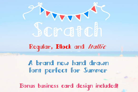 Scratch Regular Block Italic Font