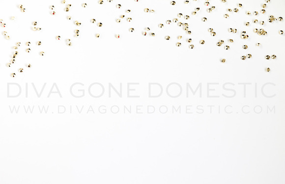 Stock Photo Gold Diamond Confetti