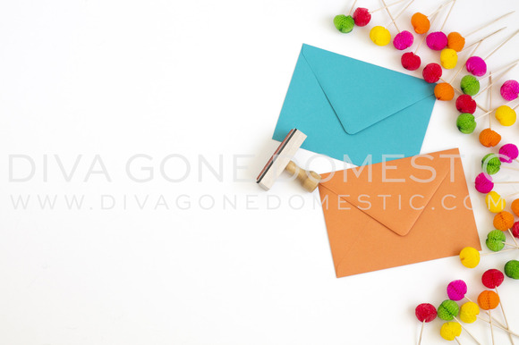 Stock Photo Envelopes Stamps