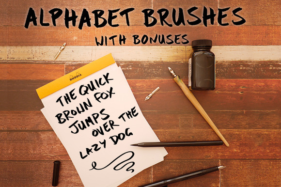 Photoshop Alphabet Brush Set