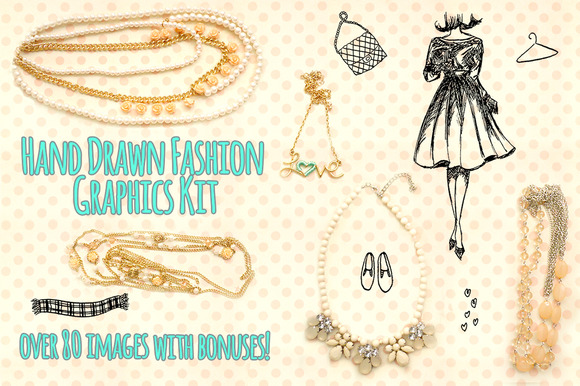Fashion Vector Sketches 80 Elements