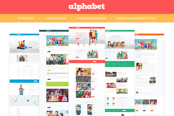 Alphabet Education PSD Templates