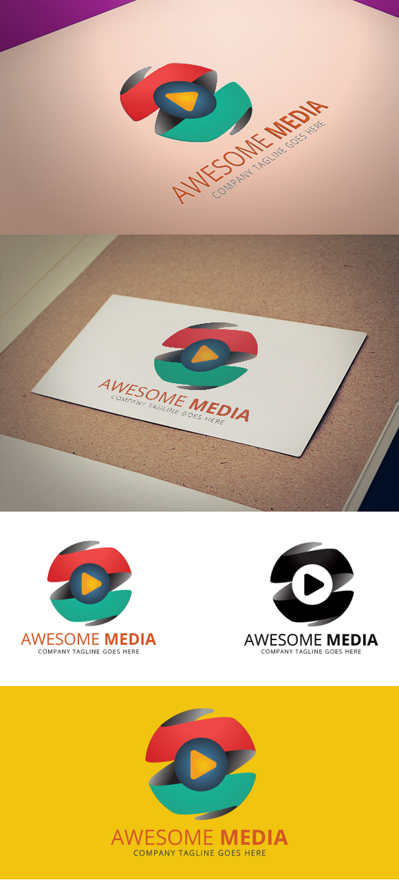 Awesome Media Logo Template