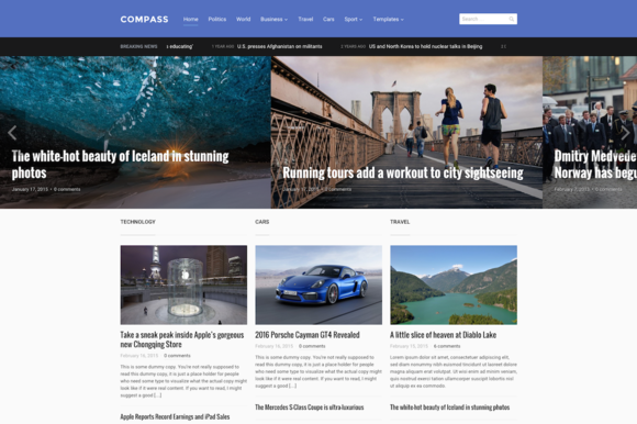 Compass WordPress Magazine Theme