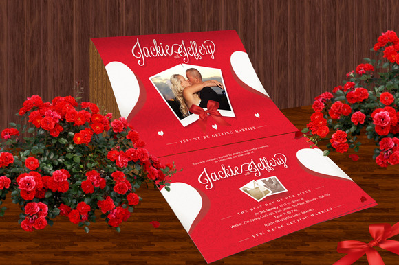 Invitation Postcard Display Mockup