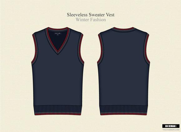Men Sleeveless Sweater Vest
