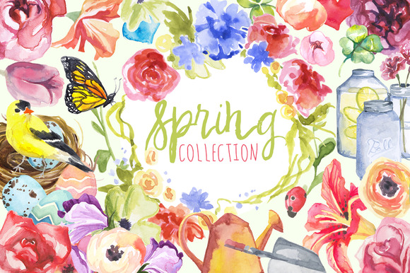 Watercolor Spring Collection