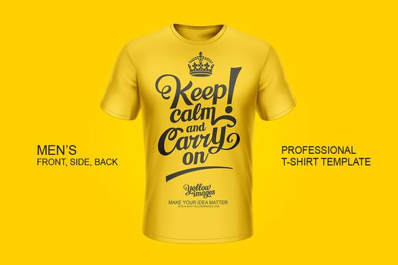Professional Men S T-Shirt Template