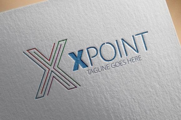 X Point X Letter Logo