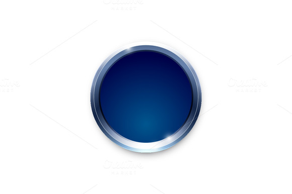 Blue Shiny Button Vector Design