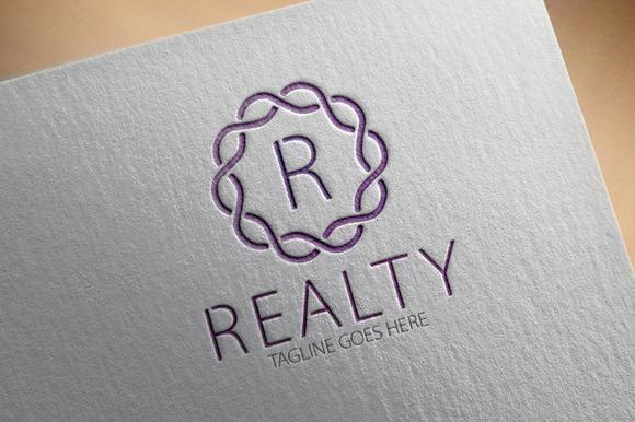 Realty R Letter Logo