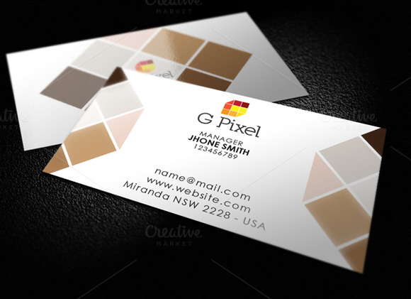 G Letter Pixel Logo And Stationery